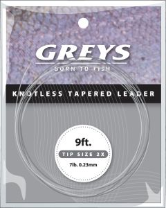 Greys Knotenlos verjüngtes Vorfach 4X 9' 5lb