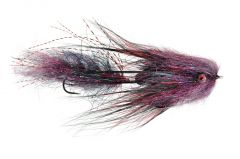 Fulling Mill Cheech Leech Black & Red Streamer