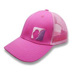 AngelJoe Mesh Cap Pink mit 3D Logo  | US Style