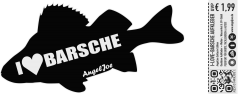 I LOVE Barsche - Aufkleber