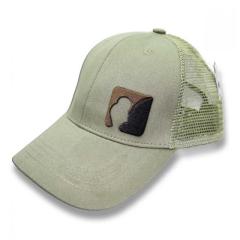 AngelJoe Mesh Cap Khaki mit 3D Logo  | US Style