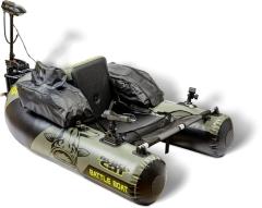 Black Cat Battle Boat Set inkl. E-Motor + Fernbedienung + Rutenhalter + Geberhalterung | Belly Boat
