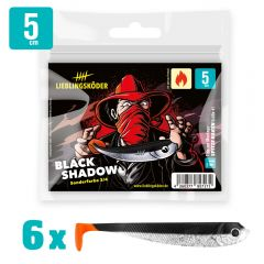 Lieblingsköder Gummifisch Barschköder 5cm Black Shadow