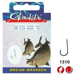 Gamakatsu Brassen-Haken mit 45cm Vorfach | Angelhaken