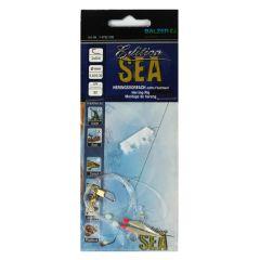 Balzer Sea Edition Heringsvorfach 0.40/0.30mm Länge 80cm Haken 2x0/4 | echte Fischhaut