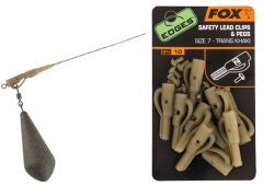 Fox Edges Safety Lead Clips & Pegs Gr. 7 | Trans Khaki