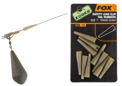 Fox Edges Safety Lead Clip Tail Rubbers Gr. 7 | Trans Khaki