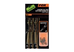 Fox Edges Leadcore Heli Rigs + Kwik Change Kit Dark Camo