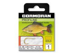 Cormoran Profiline Karpfenhaken Gold Gr. 1-8 | Vorfachhaken