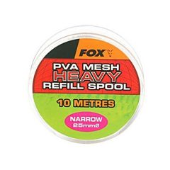 Fox PVA Heavy Mesh Refill Spool Narrow 25mm für Boilie, Pellets, Karpfen | 10m