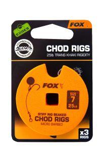 Fox Edges Chod Rigs 25lb Fertigvorfach | Karpfenhaken