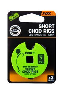 Fox Edges Short Chod Rigs 25lb Fertigvorfach | Karpfenhaken