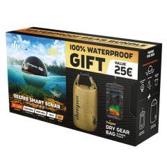 Deeper Pro+ Smart Sonar + Gratis Dry Gear Bag & Handytasche