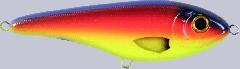 Strike Pro Buster Jerk Shallow Runner 15 cm 64,5 g Blue Parrot