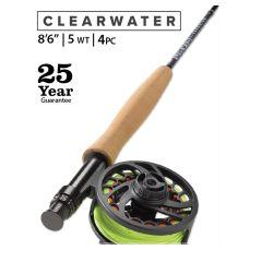 Orvis Clearwater Outfit 8,6` 5WT 4PC Fliegenfischen Komplett-Set