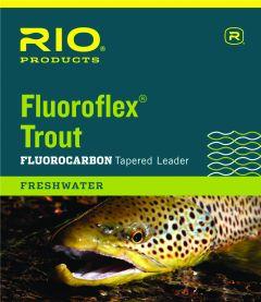 Rio Fluoroflex Trout 9' 1X | Konisches Flurocarbon-Vorfach