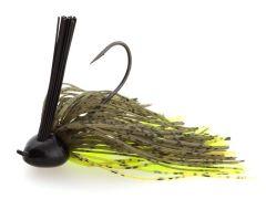 Black Flagg Compact Jigg Light Wire 12,5g Green Pumpkin Chartreuse | Rubber Jig - Skirted Jig
