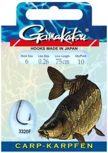 Gamakatsu Karpfen-Haken mit 75cm Vorfach | Angelhaken