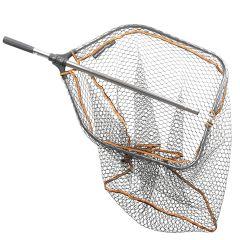 Savage Gear Pro Tele Folding Rubber Large Mesh Landing Net L