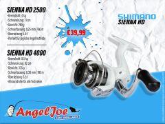 Shimano Sienna HD 2500 und 4000 Spinnrolle  Exklusiv und nur bei uns!
