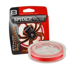Spiderwire Stealth Smooth 8 Braid Rot Geflochtene Schnur | 150m