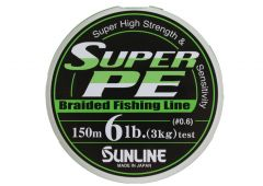 Sunline Super PE geflochtene Schnur 150m hellgrün