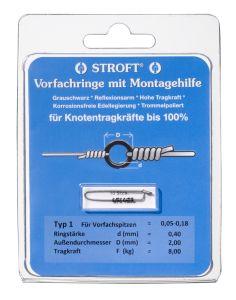 Stroft Vorfachringe 0,4mm 8kg