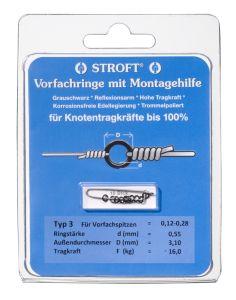 Stroft Vorfachringe 0,55mm 16kg