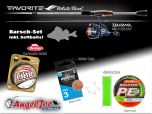 Angelset Favorite White Bird 2,04 m 1-7g + Daiwa Ninja BS LT 2000 mit Zubehör | Ultra Light Combo