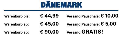 Versandkosten Dänemark