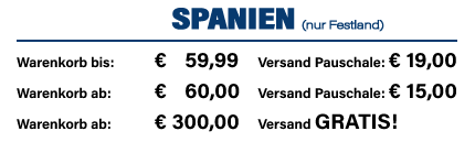 Versandkosten Spanien