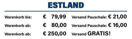 Versandkosten Estland