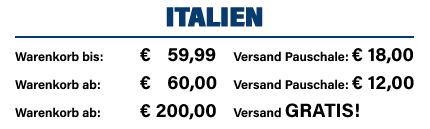Versandkosten Italien
