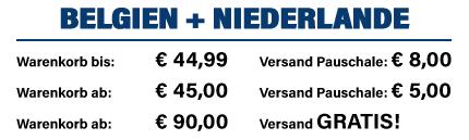 Versandkosten Belgien und Niederlande